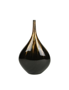 Rovan Atlantis Vase - Black & Gold