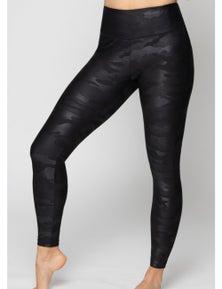 LaSculpte Women's Faux Leather F/L Camo Print Tights