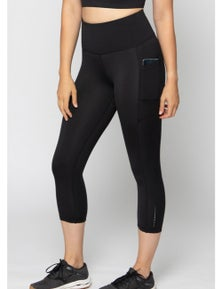 LaSculpte Women's Recycled 3/4 Crop Tights w Phone Pockets