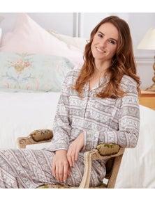 Magnolia Lounge Woodland Fairisle Pyjama Set