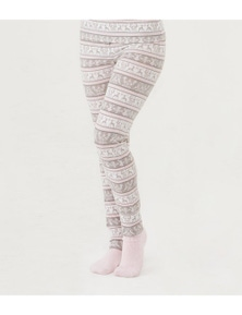 Magnolia Lounge Woodland Fairisle Slim Fit Pant