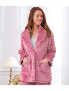 Magnolia Lounge Engraved Lux Fleece Bed Jacket