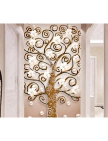 AJ Wallpaper 3D Leaves 983 Wall Murals Removable Wallpaper Self-Adhesive Vinyl