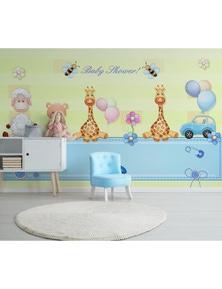 AJ Wallpaper 3D Doll Giraffe 824 Wall Murals Removable Wallpaper Woven Paper