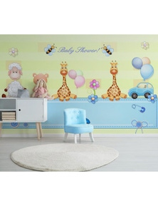 AJ Wallpaper 3D Doll Giraffe 824 Wall Murals Removable Wallpaper Self-Adhesive Vinyl