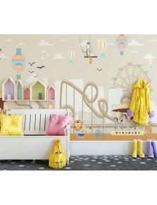 AJ Wallpaper 3D Hot Air Balloon 823 Wall Murals Removable Wallpaper Woven Paper