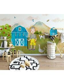 AJ Wallpaper 3D Rural Scenery 821 Wall Murals Removable Wallpaper Woven Paper