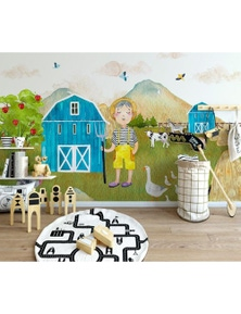 AJ Wallpaper 3D Rural Scenery 821 Wall Murals Removable Wallpaper Woven Paper