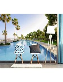 AJ Wallpaper 3D Coconut Tree Swimming Pool 598 Wall Murals Removable Wallpaper Self-Adhesive Vinyl