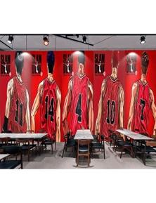 AJ Wallpaper 3D Basketball Player Back 262 Wall Murals Removable Wallpaper Self-Adhesive Vinyl