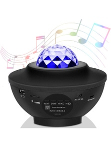 USB LED Projector Smart Night Light Bluetooth Projector with Music