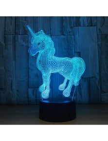 3D Unicorn Night Light with Remote Control