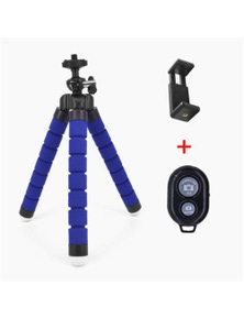 Remote Control Flexible Mobile Phone Holder Tripod Octopus Bracket Selfie Stand