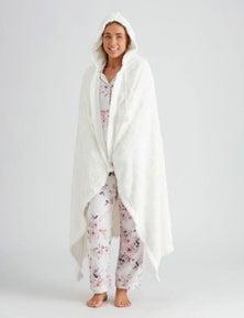 Ramesses Faux Fur Hooded Blanket