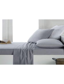 Home Essentials 175GSM Egyptian Cotton Flannelette /Flannel Full Sheet Set Twill Weave