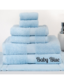 Linen Comfort Brand New 7 Pieces 100% Cotton Bath Sheet Set