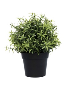 Designer Plants Small Potted Artificial Rosemary Herb Plant UV Resistant