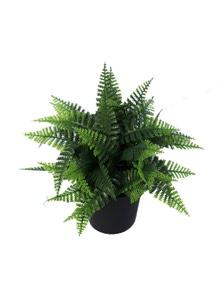Designer Plants Small Potted Artificial Persa Boston Fern Plant UV Resistant