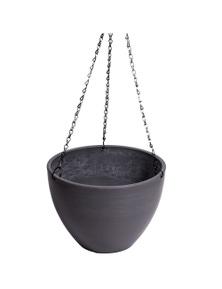 Designer Plants Hanging Grey Plastic Pot with Chain
