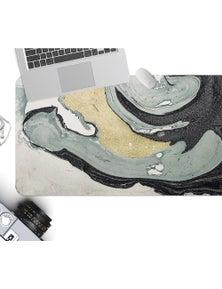 AJ 3D Gray-Green Lines 18056 Non-Slip Office Desk Mouse Mat