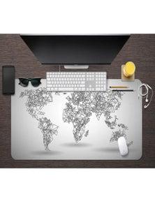 AJ 3D Triangle Map 174 Non-Slip Office Desk Mouse Mat