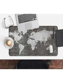 AJ 3D Black Map 121 Non-Slip Office Desk Mouse Mat