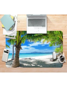 AJ 3D Coco Beach 093 Non-Slip Office Desk Mouse Mat