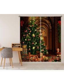 AJ 3D Shiny Tree 001 Christmas Blockout Photo Curtain