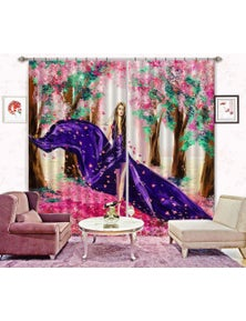 AJ 3D Cherry Blossoms 030 Blockout Photo Curtain