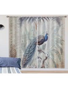 AJ 3D Peacock Palm 008 Andrea haase Curtain Blockout Photo Curtain