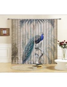 AJ 3D Peacock Jungle 007 Andrea haase Curtain Blockout Photo Curtain