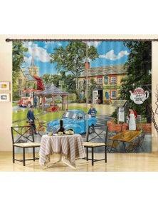 AJ 3D The Village Tearooms 116 Trevor Mitchell Curtain Blockout Photo Curtains