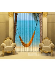 AJ 3D Beach Hammock 1158 Blockout Photo Curtain