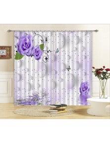 AJ 3D Bead Curtains Flowers Blockout Photo Curtain