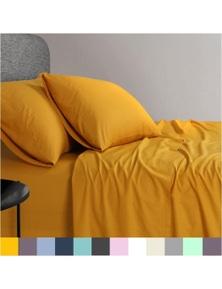 Elan Linen 1200TC Organic Cotton 4-Piece Sheet Set