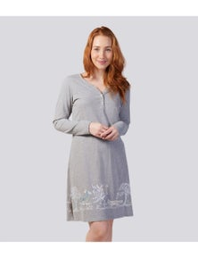 Magnolia Lounge Into The Woods Peached Cotton Henley Nightie