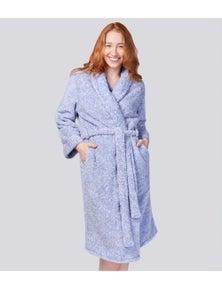 Magnolia Lounge Marle Fleece Shawl Collar Gown