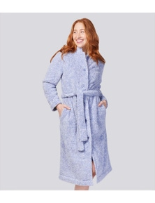 Magnolia Lounge Engraved Fleece Button Up Gown