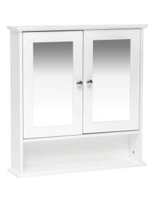 Meubilair Maine Double Door Mirrored Bathroom Cabinet