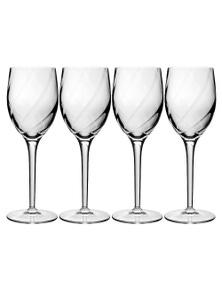 Luigi Bormioli Set 4 Canaletto White Wine Glasses 250ml