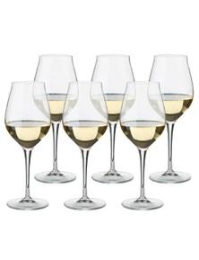 Luigi Bormioli Set 6 Vinea Malvasia Orvieto White Wine Glasses 350ml Set 6