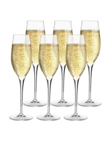 Luigi Bormioli Set 6 Vinea Prosecco Spumante Champagne Glasses 200ml Set 6