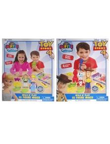 Toy Story 4 Softee Dough Mold-N-Play Figure Maker WoodyForky/ Bo PeepBuzz