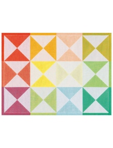 Le Jacquard Francais Cotton Reversible Placemat 'Origami' Pack