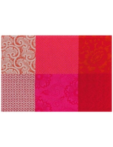 Le Jacquard Francais Non-Slip Coated Placemat 'Flowers From Kyoto' Pack