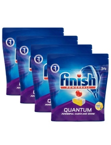 Finish Quantum Dishwashing TabletsLemon Sparkle 136PK