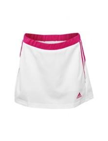 Adidas Girl's Response Climalite Tennis Skirt Skort Kids - White/Blastopink