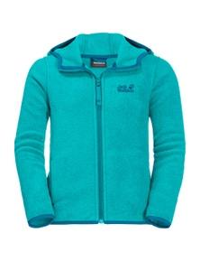 Baksmalla Hooded Jacket Kids-Aquamarine