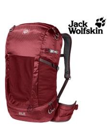 Jack Wolfskin Kingston 30 Pack Unisex Backpack Mens Womens Travel Bag Red Maroon