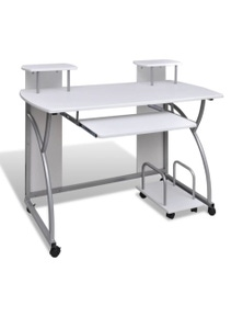 Mobile Computer Desk Pull Out Tray Table